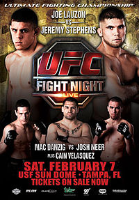 Sports Photos - 2009 UFC Fight Night: Lauzon Vs. Stephens - A poster or logo for UFC Fight Night: Lauzon vs. Stephens.
