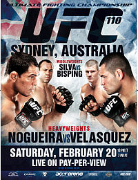 Sports Photos - 2010 UFC 110: Nogueira Vs. Velasquez - A poster or logo for UFC 110: Nogueira vs. Velasquez.