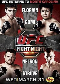Sports Photos - 2010 UFC Fight Night: Florian Vs. Gomi - A poster or logo for UFC Fight Night: Florian vs. Gomi.