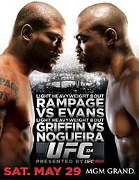 Sports Photos - 2010 UFC 114: Rampage Vs. Evans - A poster or logo for UFC 114: Rampage vs. Evans.