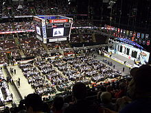 Hockey Photos - 2008 NHL Entry Draft - Stage and team tables at Scotiabank Place