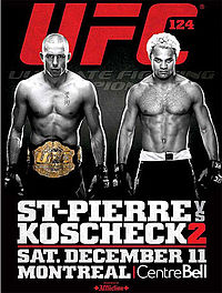 Sports Photos - 2010 UFC 124 St- Pierre Vs. Koscheck 2 - A poster or logo for UFC 124: St-Pierre vs. Koscheck 2.