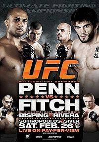 Sports Photos - 2011 UFC 127 Penn Vs Fitch - A poster or logo for UFC 127: Penn vs. Fitch.