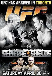 Sports Photos - 2011 UFC 129 St- Pierre Vs. Shields - A poster or logo for UFC 129: St-Pierre vs. Shields.