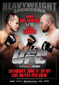 Sports Photos - 2011 UFC 131 Dos Santos Vs. Carwin - A poster or logo for UFC 131: Dos Santos vs. Carwin.
