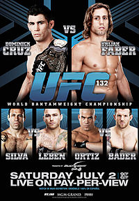 Sports Photos - 2011 UFC 132 Cruz Vs. Faber - A poster or logo for UFC 132: Cruz vs. Faber.