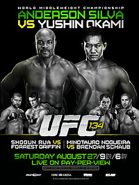 Sports Photos - 2011 UFC 134 Silva Vs. Okami - A poster or logo for UFC 134: Silva vs. Okami.
