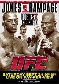 Sports Photos - 2011 UFC 135 Jones Vs. Rampage - A poster or logo for UFC 135: Jones vs. Rampage.