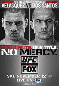 Sports Photos - 2011 UFC On Fox Velasquez Vs. Dos Santos - A poster or logo for UFC on Fox: Velasquez vs. Dos Santos.