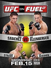 Sports Photos - 2012 UFC On Fuel Tv: Sanchez Vs. Ellenberger - A poster or logo for UFC on Fuel TV: Sanchez vs. Ellenberger.