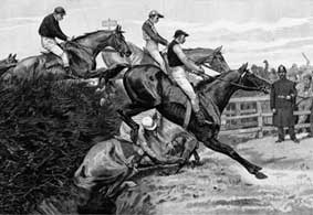Horse Racing Photos - Grand National - Beecher's Brook 1890