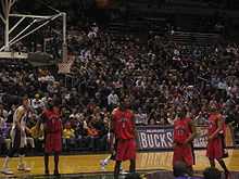 Basketball Photos - Chris Bosh - Bosh and his team mates in a 2005