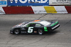 Motorsports Photos - Stock Car Racing - ASA Late Model Series car on an asphalt track.
