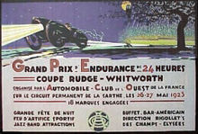 Motorsports Photos - 24 Hours Of Le Mans - A poster for the 1923 24 Hours of Le Mans
