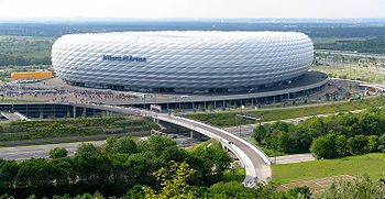 Soccer Photos - Die Roten - Opened in 2005: the Allianz Arena