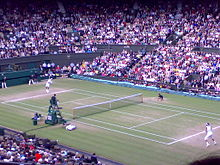 Tennis Photos - 2008 Wimbledon Championships - Wimbledon Men%27s final 2008%2C Federer serves for 3rd set