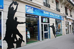 Sports Photos - 2007 Rugby World Cup - The Official Rugby World Cup Shop in Paris.