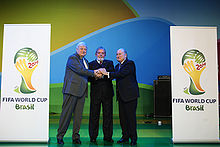 Soccer Photos - 2014 FIFA World Cup - The official Brazil 2014 logo.