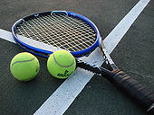 Tennis Photos - 2012 US Open (Tennis) - Tennis Racket and Balls