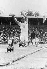 Olympics Photos - 1912 Olympic Games - Jim Thorpe in action at the 1912 Olympics.