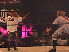 Sports Photos - Edge (Wrestler) - Edge (left) and Christian at King of the Ring 2000 performing their five second pose.