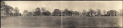 College Football Photos - LSU - A panorama of the LSU campus in 1909