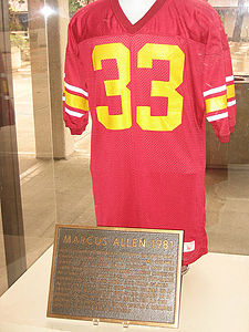 College Football Photos - USC Trojans Football - Marcus Allen's retired jersey