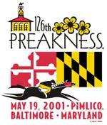 Horse Racing Photos - 2001 Preakness Stakes - Preak logo 2001
