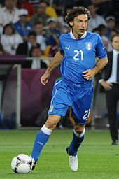 Soccer Photos - Andrea Pirlo - Andrea Pirlo playing for Italy against England in quarter final of Euro 2012