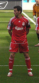Soccer Photos - Alvaro Arbeloa - Arbeloa playing for Liverpool in 2007.
