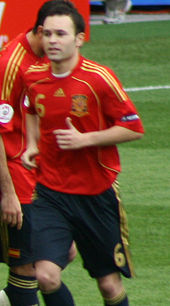 Soccer Photos - Andres Iniesta - Andrés Iniesta playing for Spain during Euro 2008
