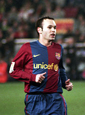 Soccer Photos - Andres Iniesta - Andrés Iniesta with Barcelona in 2006