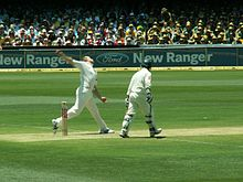 Sports Photos - Andrew Flintoff - Flintoff bowling against Australia in The Ashes series