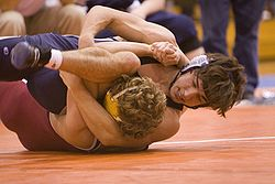 Sports Photos - Wrestling - Two high school students competing in scholastic wrestling (collegiate wrestling done at the high school and middle school level).