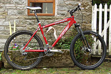 Sports Photos - Mountain Biking - A hardtail mountain bike.