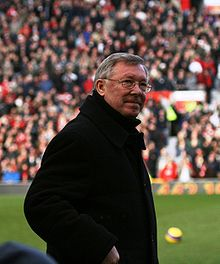 Soccer Photos - Alex Ferguson - Ferguson at Old Trafford