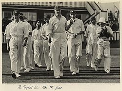Sports Photos - England Cricket Team - English cricket team at the test match held in Brisbane1928