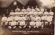 Sports Photos - Australia National Rugby Union Team - The squad that went on a tour in 1908.