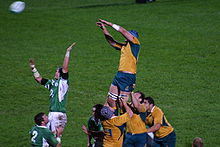 Sports Photos - Australia National Rugby Union Team - A line-out during Ireland against Australia in 2006.