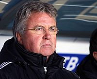 Soccer Photos - Anzhi Makhachkala - Manager Guus Hiddink