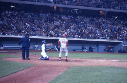 Baseball Photos - Pete Rose - Pete Rose at bat during the Big Red Machine years