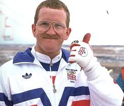 "Olympics Photos - Eddie The Eagle Edwards - Michael Edwards (born 5 December 1963), better known as Eddie ""The Eagle"" Edwards, is a British skier who was the first competitor to represent Great Britain in Olympic ski jumping. At the time, Edwards was the British ski jumping record holder, the world number nine in amateur speed skiing (106.8mph (171.9km/h)) and the stunt jumping world record holder (10 cars/6 buses)."