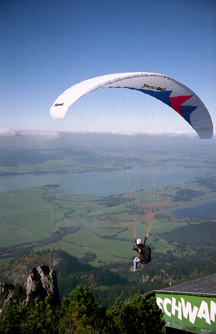 Sports Photos - Paraglide - Takeoff from a ramp