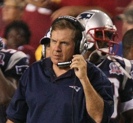 Football Photos - Bill Belichick - Belichick during an August 28, 2009 preseason game against the Washington Redskins