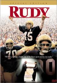 College Football Photos - Rudy Ruettiger - Rudy Movie Poster about the life of Rudy Ruettiger.