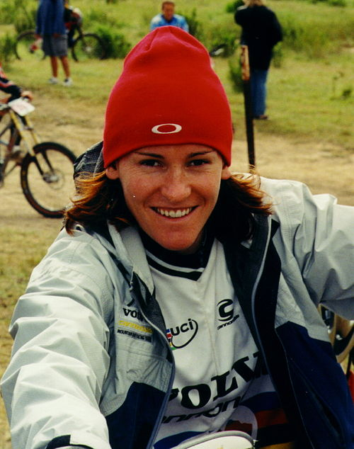 Olympics Photos - Anne-Caroline Chausson - Chausson at the 2001 Sea Otter Classic