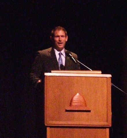 Football Photos - Steve Young - Steve Young speaking to Young Single Adults in 2009
