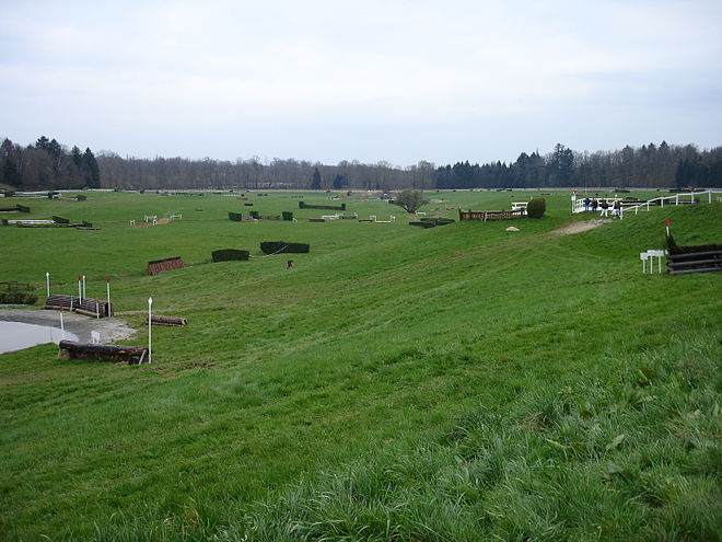 Horse Racing Photos - Cross-Country Equestrianism - A cross-country course. Note start box in upper right corner.