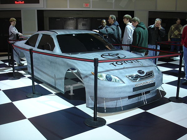 Motorsports Photos - Car Of Tomorrow - A Car of Tomorrow body with Toyota Camry decals.