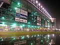 Motorsports Photos - Daytona International Speedway - Main Entrance at night 2005